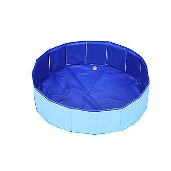 M 80*20cm blue pet folding bathtub summer outdoor dog swimming pool az1670