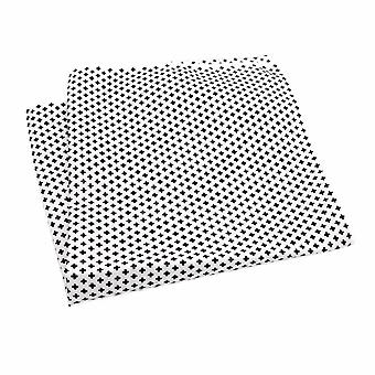 ホワイト ブラック ・ グレー クロス 33 cm ハンカチ大ポケット広場