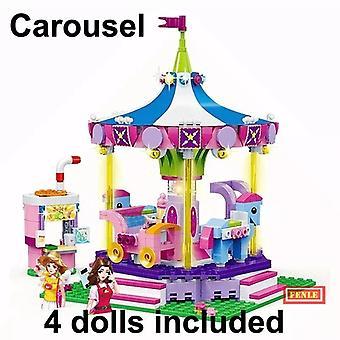 Gudi الفتيات سلسلة متنزه والتجمع من البلاستيك بناء كتلة اللعب متوافقة مع الأصدقاء