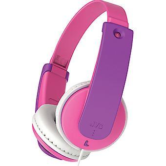 JVC HAKD7P Små telefoner Barn Stereo Hörlurar Rosa