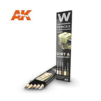 AKインタラクティブ - AK10044風化鉛筆セット - ダート&マークス