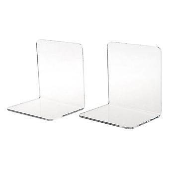 новые прозрачные акриловые книжные заставки l-образный настольный органайзер для стола sm32613