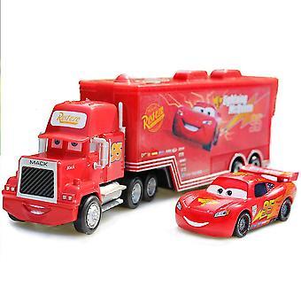 Cars Cargo Truck 95 Mack Lighting Mcqueen Racing Car Diecast Alloy Cars Model Toy Children's Gift