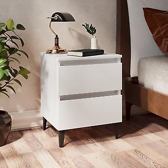vidaXL Yöpöytä Valkoinen 40x35x50 cm Lastulevy