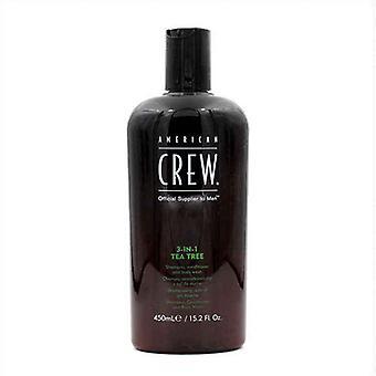 Champú 3-en-1 Árbol de Té American Crew (450 ml)