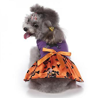 Mimigo Halloween Dog Dress For Small Dogs Tutu Dress With Bowtie Cat Dress Holiday Cosplay Pet Outfit
