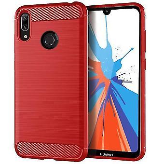 Langlebige weiche Schutzhülle für Huawei Y7 Prime 2019 - Rot