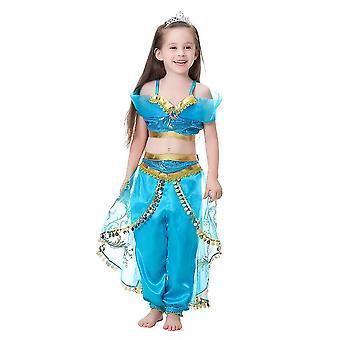 Arabian Princess Costume For Girls Dress Up Birthday Halloween Party(110CM)