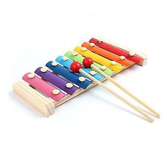 8-noten kleurrijke aluminium plaat percussie vroege educatieve muzikale speelgoed voor peuters baby (STYLE ONE)