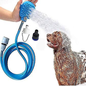 Pet Bathing Tool Doccia Sprayer Massaggio Scrubber Regolabile Toelettatura portatile regolabile