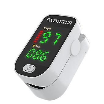 Digital Pulse Oximeter Finger Clip Heart Rate Monitor(White)