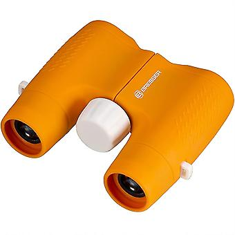 Bresser Junior binoculars for children 6x21 with robust, rubber-armored binoculars body and central