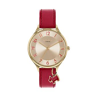 Radley Saxon Road Ry2968 Gold Dial Leather Strap Ladies Watch