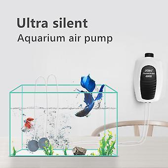 Ultra Silent Aquarium Air Pump Vzduchový kompresor Kyslíkový airpump Single & Double Outlet 220-240V Nastavitelné vodní čerpadlo pro objem vzduchu