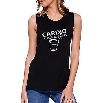 Cardio og kaffe træne muskler Tee søde Gym ærmeløs Tank Top