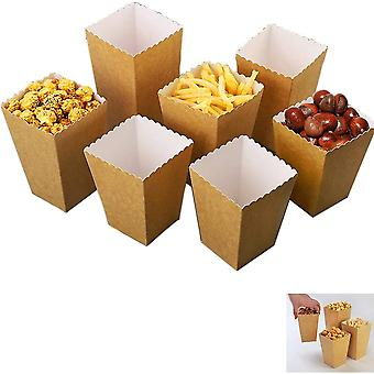 24pcs Popcorn Boxes Popcorn Box Carton Candy Container For Candy, Candy, Party Bags, Birthday, Wedding, Gift