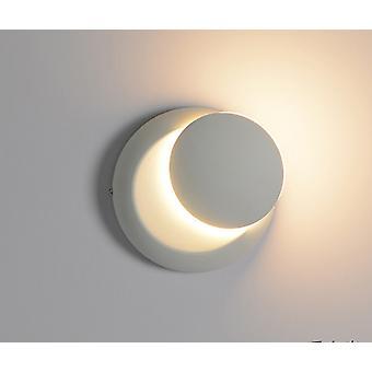 Led Round Crescent Roterande Vägglampa i sovrum och vardagsrum (vit)