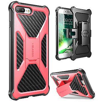 i-Blason-iPhone 7 Plus tapauksessa muuntaja Kickstand kotelossa kattaa tapauksessa vaaleanpunainen