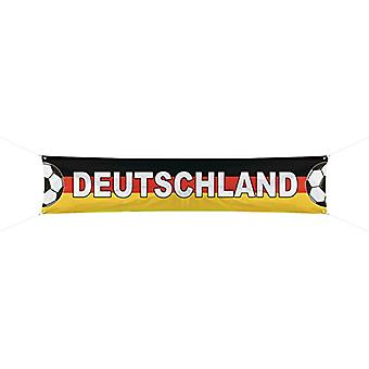 Fußball Banner Deutschland 360x60 cm EM WM Fußballparty