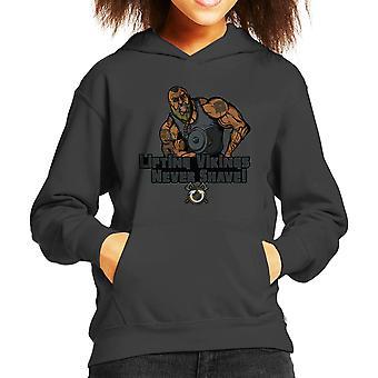 Liftin Vikingen scheren nooit Kid's Hooded Sweatshirt