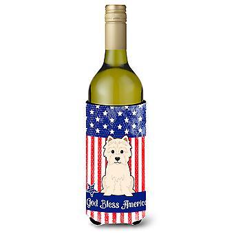 Isänmaallinen USA Westie Viini pullo Beverge eriste Hugger