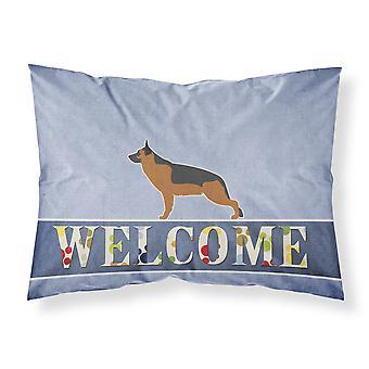 German Shepherd Welcome Fabric Standard Pillowcase