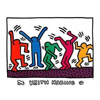 Sem título (dançarinos) Poster Print by Keith Haring (32 x 24)