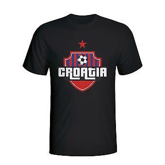 Chorvátsko logo krajiny tričko (Black)-deti