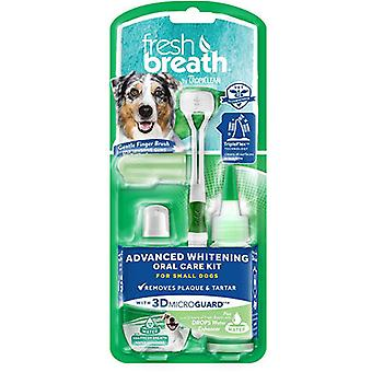 Tropiclean Fresh Breath Advanced Whitening Oral Care Kit For Small Dogs