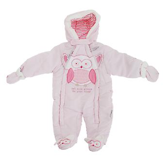 Baby Boys/Girls Owl Will Always Be Your Friend All In One Hooded Winter Snowsuit