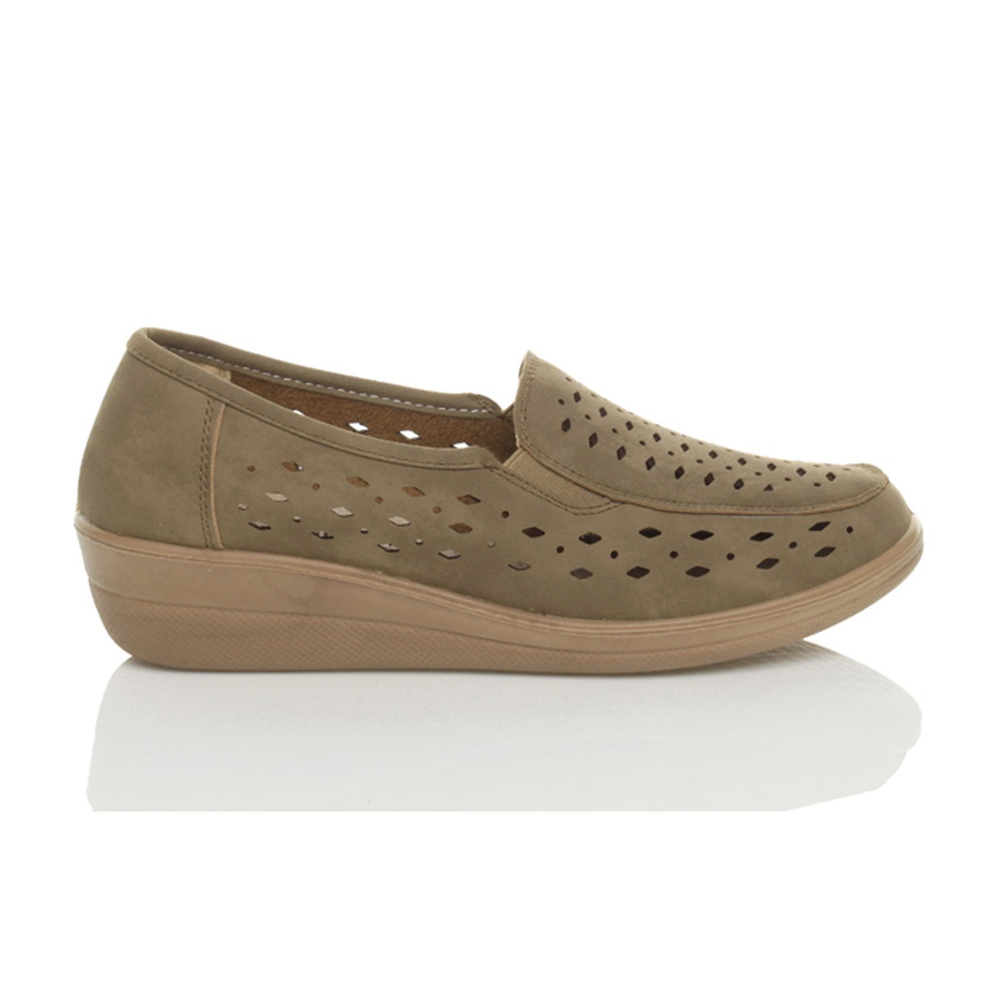 Ajvani womens wedge travail plat flexible confort mocassins chaussons chaussures de marche