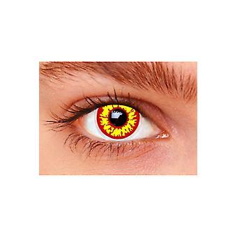 Lentes de contato de efeito especial 3 meses lentes Lobo vermelho por par