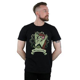 DC Comics mænds Poison Ivy alle jeg ønsker er et kys T-Shirt