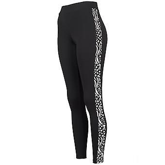 Urban classics ladies - stripe Zoo fitness Leggings Black