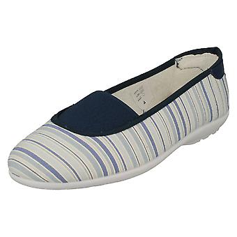 Señoras Easy B Slip On Canvas Zapatos Hilary