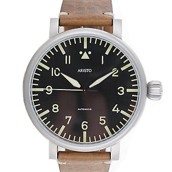 Aristo men's watch automatic vintage watch 55 observers 3 H 189 leather