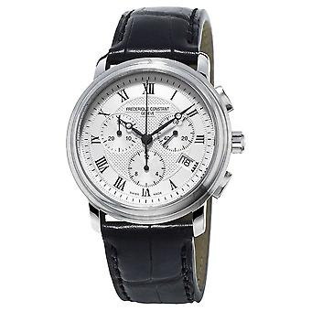 Frederique Constant Mens Classics Chronograph Black Leather Strap FC-292MC4P6 Watch