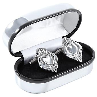 Irish Claddagh Pewter Cufflinks