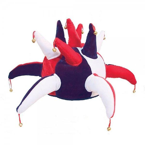 Union Jack Wear Red White And Blue Jester Hat