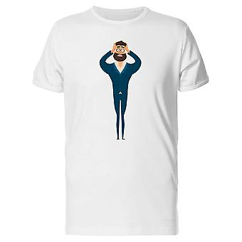 Surprised Hipster Business Man Tee Men's -Image by Shutterstock