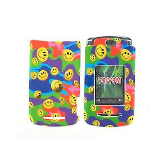 Offwire Snap On Case for Motorola Razr2 V8/V9m - Smiley Face