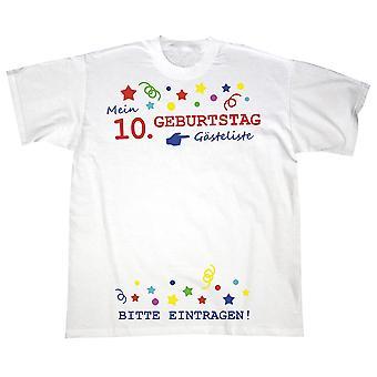 Minun lapsi 10-vuotissynttäreitä t-paita