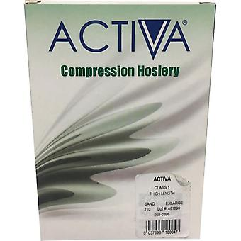Activa Compression Tights Tights Cl1 Stock Thigh Sand 259-0396 Ex-Lge