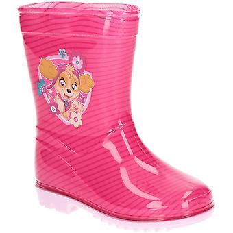 Leomil Girls Skye Slip On Mid Calf Printed Wellington Boots