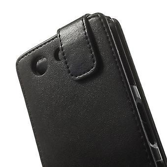 ソニー Xperia Z3 コンパクト用 MW フリップ カバー ブラック