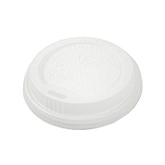 Vegware Compostable Hot Insulated Cup Lids 12oz