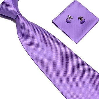 Costume Accessories | Tie + handkerchief + cufflinks Light Purple