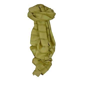 Vietnamese Long Silk Scarf Hue Weave Celery by Pashmina & Silk