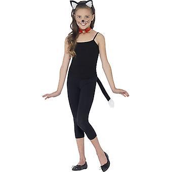 Cat σετ γάτα Set 3 μερική αυτιά, τσόκερ και ουρά