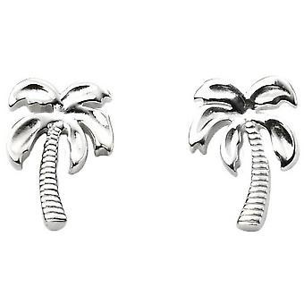 Commencements Palm Tree boucles d'oreilles - argent